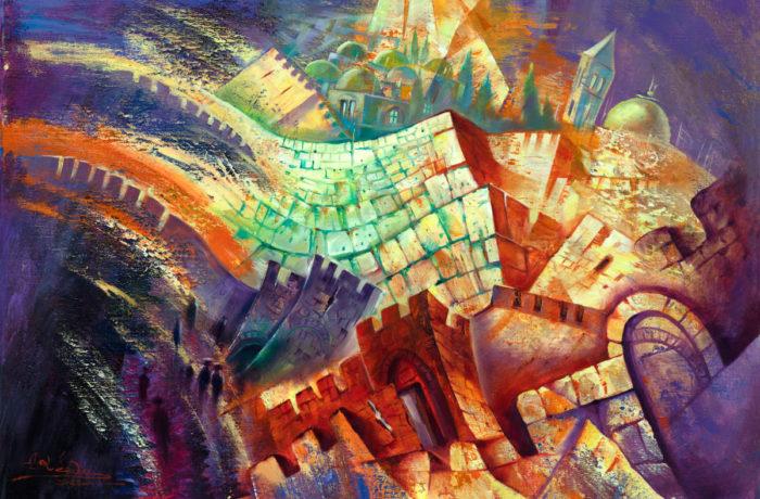 Original Oil Painting: Jerusalem in motion