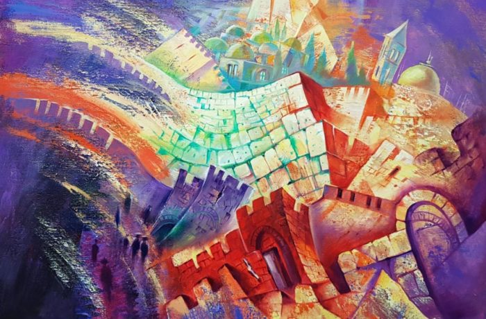 Original Oil Painting: Jerusalem in motion