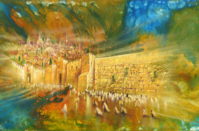 Original Oil Painting: Jerusalem of Gold