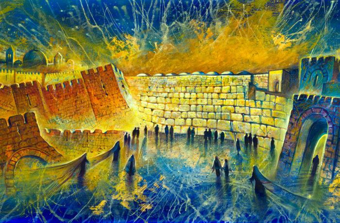 Original Oil Painting: Jerusalem – the center of the Universe