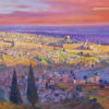Painting: Jerusalem the center of the world