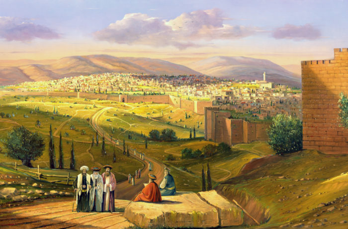 Painting: Jerusalem, the fragrance of prophets