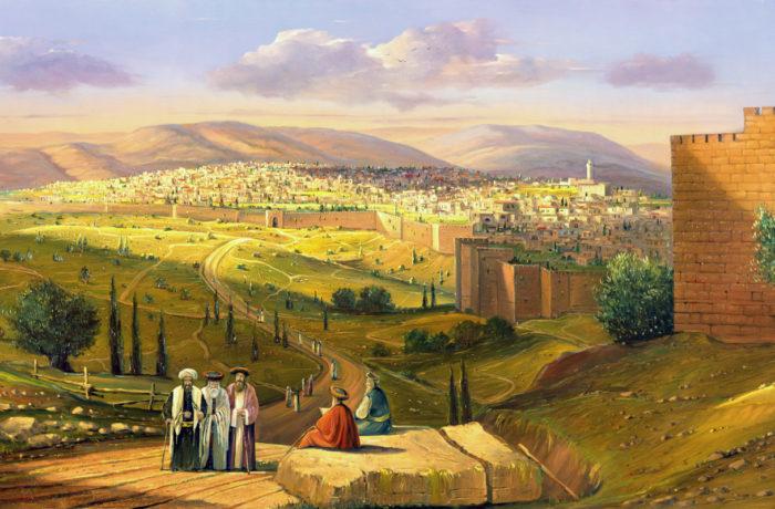 Original Oil Painting: Jerusalem, the fragrance of prophets