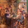 Painting: Jewish Shoemaker
