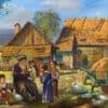 Painting: Jewish life in Shtetl