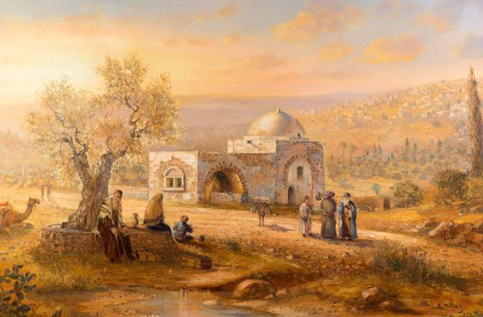 Original Oil Painting: Journey to pray with Rachel
