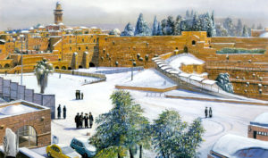 kotel at snow painting