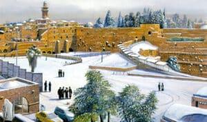 kotel at snow painting