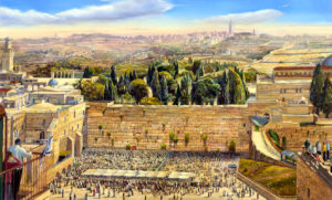 western wall painting