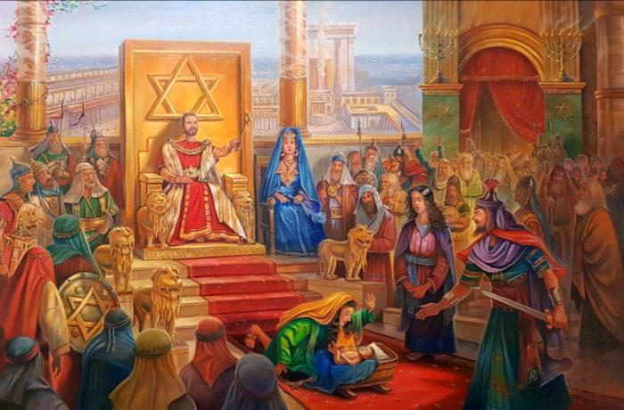 Original Oil Painting: Judgment of Solomon