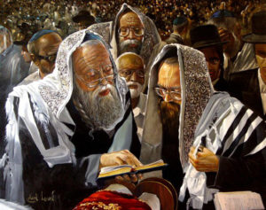 Kohanim by Alex Levin, Painting by Alex Levin