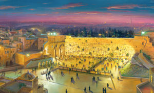 kotel at night jerusalem