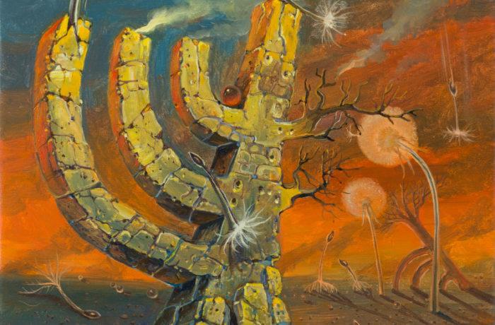 Original Oil Painting: Kristallnacht November 9th 1938