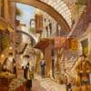 Painting: Last shopping before Shabbat