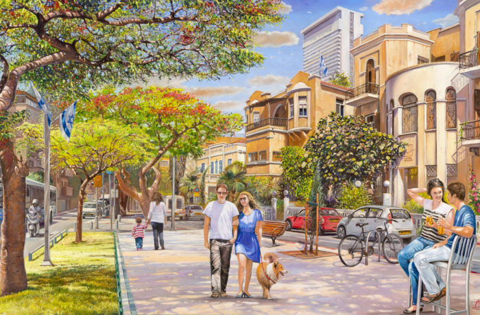 Painting: Let's fall in love on Rothschild street