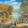 Painting: Let's meet in the park HaYarkon, Tel Aviv