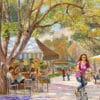 Painting: Let's meet on Rothschild Boulevard
