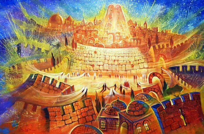 Original Oil Painting: Light of Holy Jerusalem