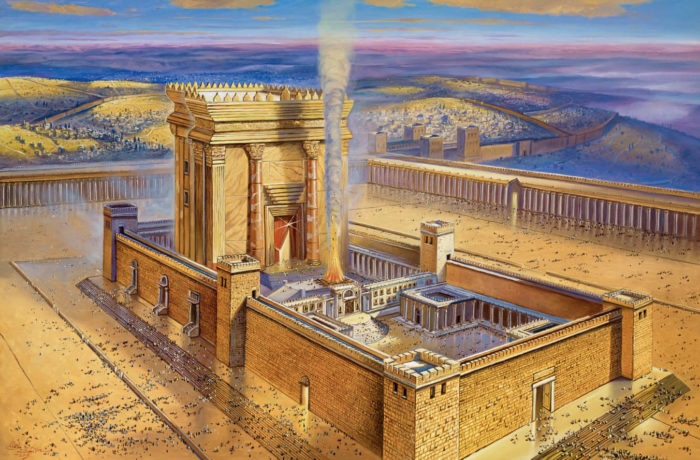 Original Oil Painting: Light of the Second Jerusalem Temple
