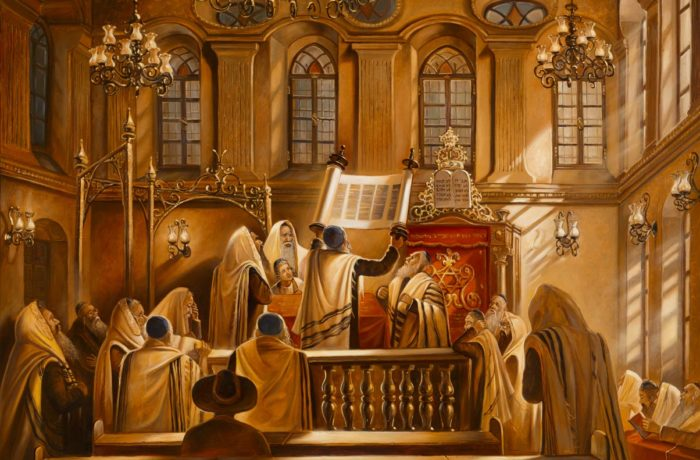 Original Oil Painting: Light of Torah
