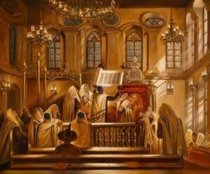 reading torah in synagogue