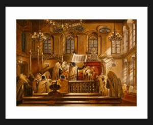painting of synagogue