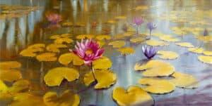 lilies paintings