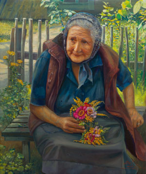 painting of grandmother