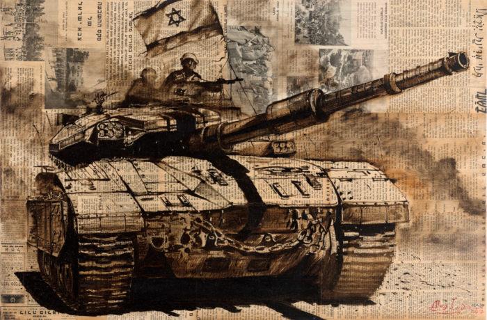 Original Oil Painting: Long Live Israel