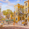 Painting: Love under the sky of Tel Aviv