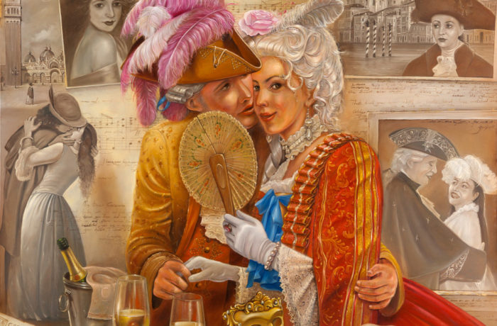 Original Oil Painting: Memories of Casanova