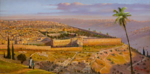 Morning Rising Above Jerusalem.
