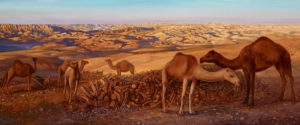painting of camels