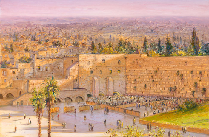 Painting: Morning by the Kotel