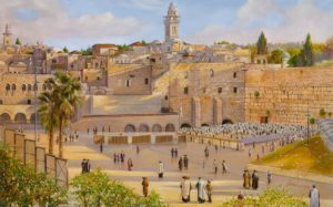 western wall kotel painting