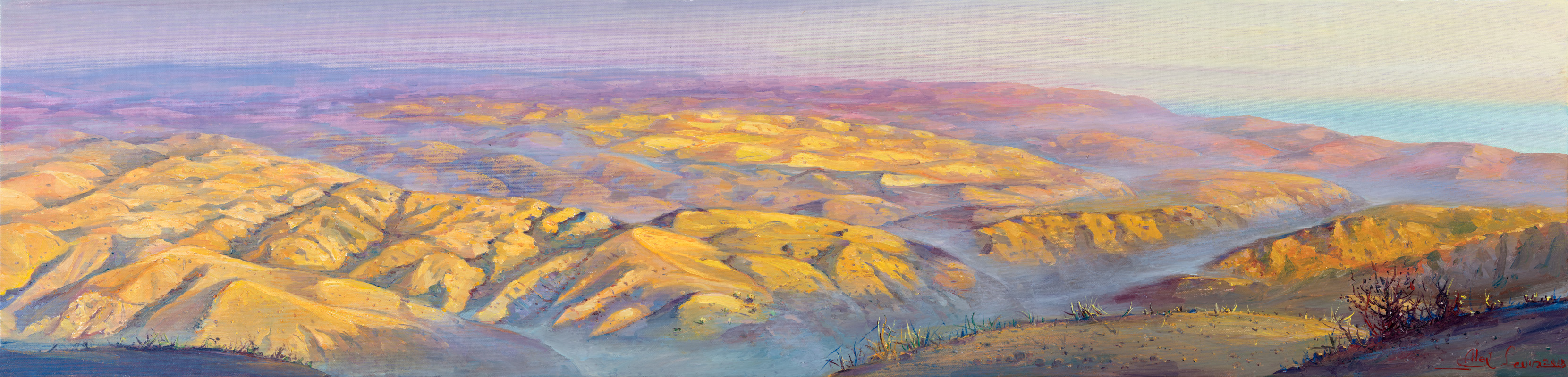 Mountains of the Dead Sea Scrolls, Painting by Alex Levin
