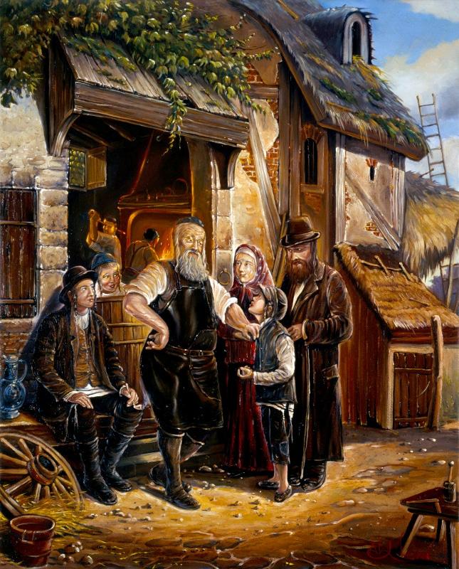 Original Oil Painting: New Worker