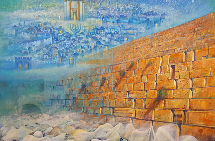 Original Oil Painting: Next Year in rebuilt Jerusalem