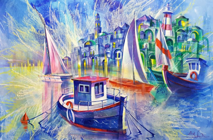 Original Oil Painting: Old Jaffa Port