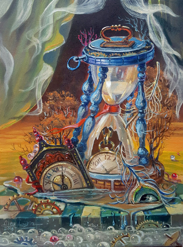 Original Oil Painting: Omnia fert aetas – Time cancels everything