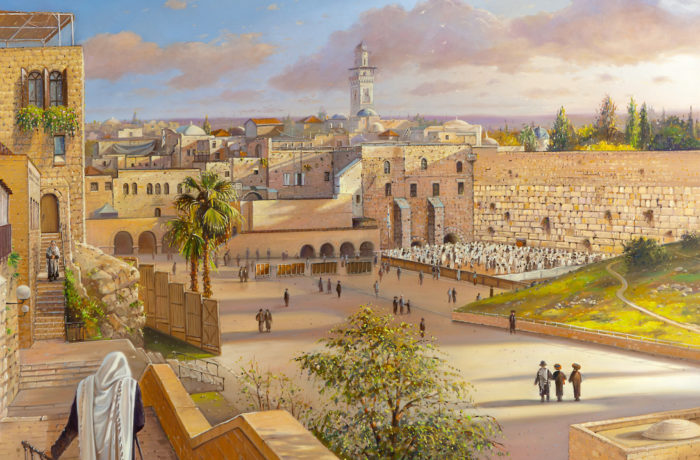Original Oil Painting: On the way to the Kotel