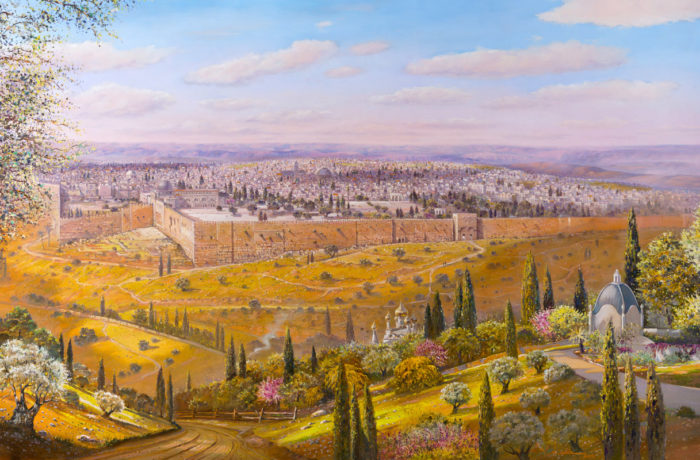 Painting: Over the hills Peace and glory