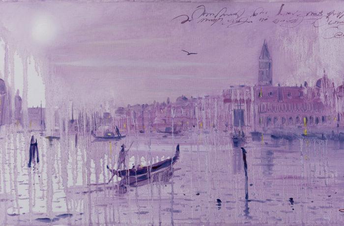 Original Oil Painting: Paganini – Concerto per Violino Orchestra No.1