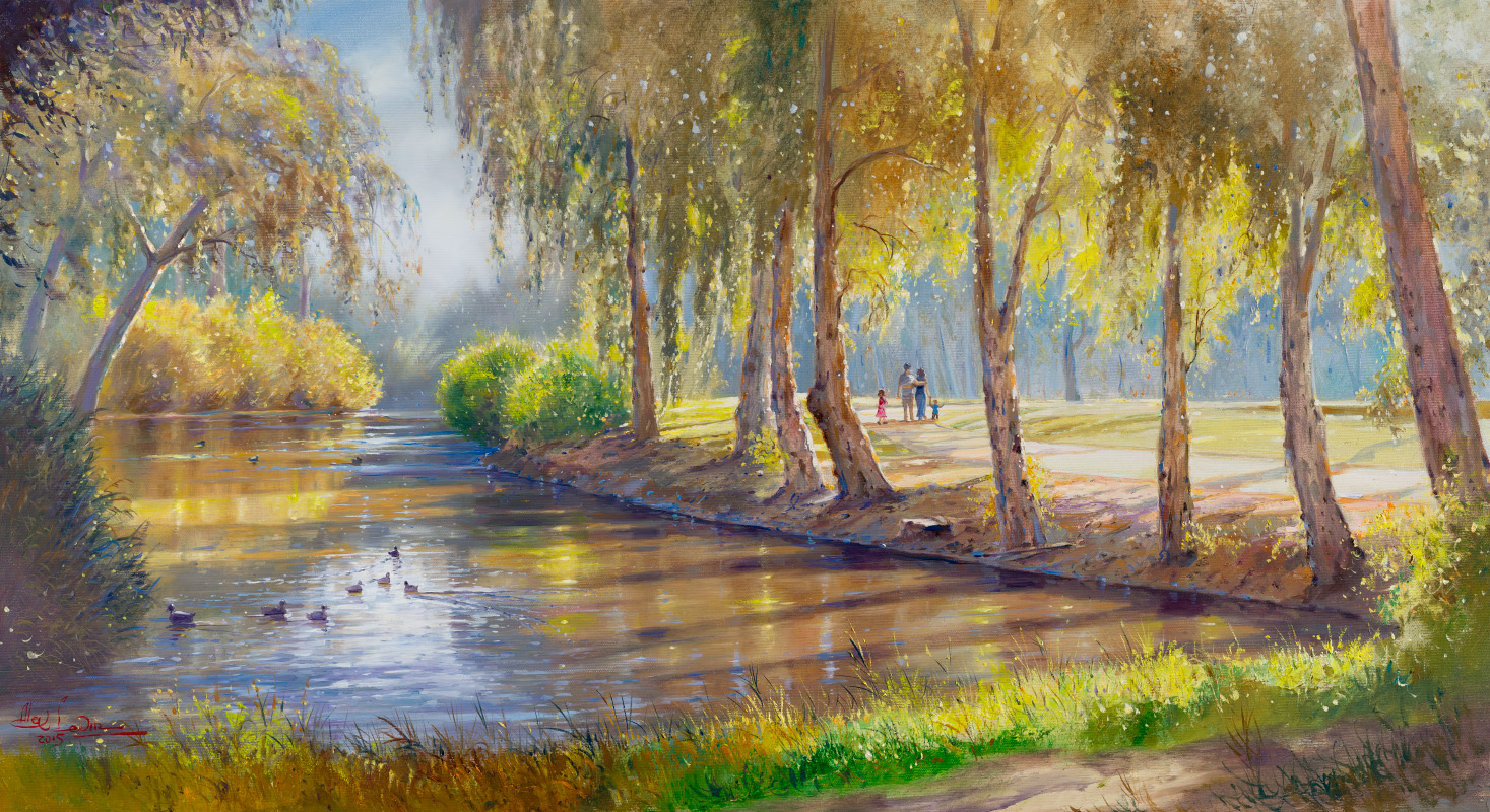 Park HaYakron Tel Aviv, Painting by Alex Levin