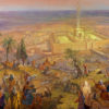 Painting: Pilgrimage to the second Jerusalem Temple