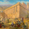 Painting: Pilgrims by the Cave of Machpelah (Tomb of the Patriarchs)
