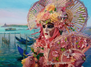 Venice painting of mask