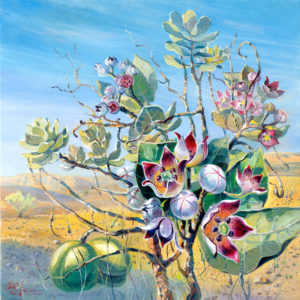 Poisonous Tree, Apple of Sodom in the natural reserve of Ein Gedi by the Dead Sea, Painting by Alex Levin