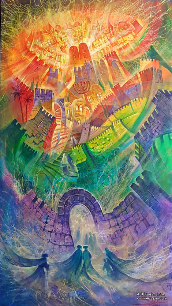 Original Oil Painting: Power, alluring to Jerusalem