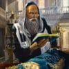 Painting: Praying with Torah